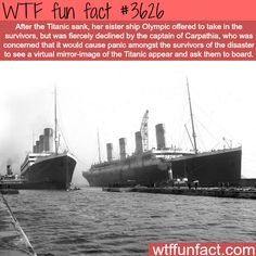 Olympic, the sister ship of the Titanic - WTF fun facts