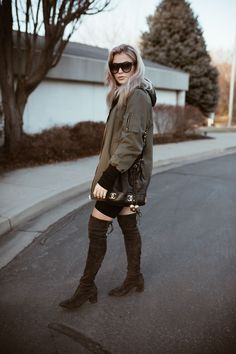 Bag Love Cara Loren, Bradley Mountain, Military Jacket, Girly, Chanel, Lady, Jackets, Outfits, Knee Boots