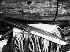 Vintage Solid Steel Blade Bowie Knife by theboneyardbuffalo on Etsy