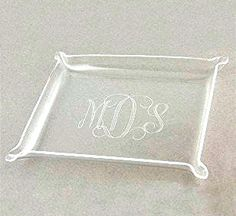 A place to put your beautiful #SwellCaroline baubles, presenting the Acrylic #Monogram Jewelry Tray!