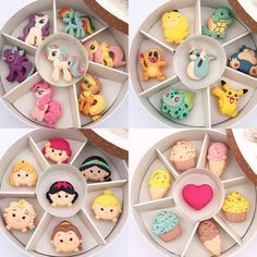 Mix and match your facourite characters Macaroons, Macaron Cookies, Meringue Cookies, Macaron Recipe, Cupcake Cookies, Disney Desserts, Cute Desserts, Disney Food, Delicious Desserts