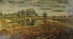 Jernej Forbici, 263 camouflage flowers, 2015, acrilico e olio su tela, 130 x 240 cm #contemporary #art #painting