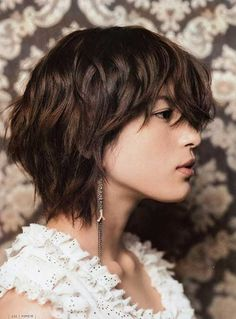 Image result for short layered haircuts for thick curly hair