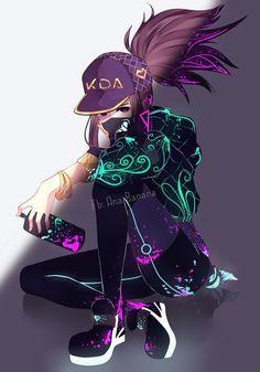 Akali von Ich weiß nicht, wer oder was das ist, aber es ist c. Akali by I don't know who or what that is, but it's cool - anime - Anime Neko, Kawaii Anime Girl, Cool Anime Girl, Chica Anime Manga, Anime Art Girl, Cartoon Kunst, Cartoon Cartoon, Dark Anime, Manga Girl