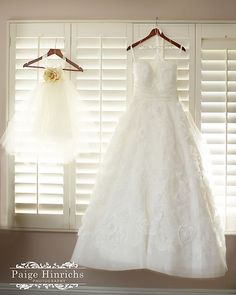My dress and my daughters flower girl dress.  Love the little girl's dress :)
