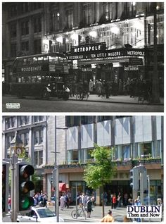 Dublin Then and Now photo of the Metropole