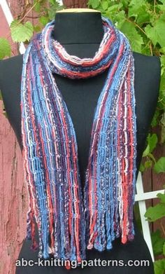 Chain Scarf with Crochet Fringe