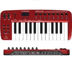 Behringer UMA25S TECLADO ULTRAPLANO, CONTROLADOR MIDI DE 25 TECLAS CON INTERFAZ DE AUDIO USB