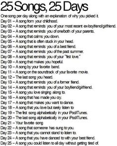 Day 1: girlfriend by Avril Lavigne. Is it bad that I still sing this song to this day?