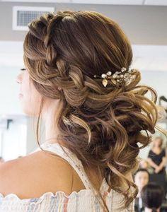 Featured Hairstyle: Courtesy of Hair and Makeup by Steph (Stephanie Brinkerhoff); wedding hair styles idea; www.hairandmakeupbysteph.com