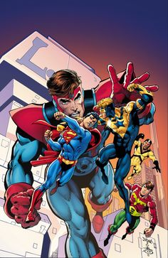 CONVERGENCE: BOOSTER GOLD #2 … MAY 2015 Written by DAN JURGENS Art by ALVARO MARTINEZ and RAUL FERNANDEZ Cover by DAN JURGENS and DANNY MIKI Variant cover designed by CHIP KIDD   STARRING HEROES FROM CRISIS ON INFINITE EARTHS! Booster Golds…Time Masters…is it possible that the combined might of these heroes can put an end to the Convergence battles?