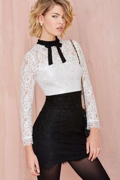 Nasty Gal Tied Up Lace Dress | Shop What's New at Nasty Gal