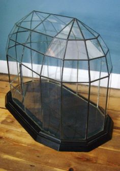 English terrarium with lead and glass