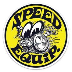 MOONEYES: Mooneyes Speed Equip round sticker - Purchase now to accumulate reedemable points! Garage Logo, Garage Art, Garage Signs, Garage Ideas, Racing Stickers, Traditional Tattoo Art, Typographic Logo, Typography, Vintage Biker
