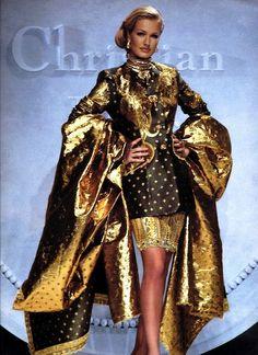 """lovelyritablog: """" Karen Mulder in Christian Dior by Gianfranco Ferre, 1991 """""""