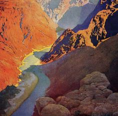 grand canyon of the colorodo - maxfield parrish
