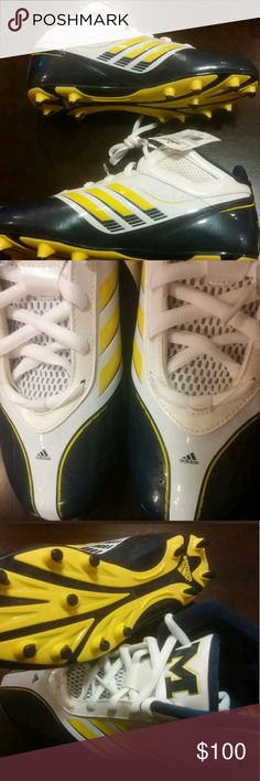 07f4750f41bb75 Shop Men s Adidas Yellow Blue size 10 Athletic Shoes at a discounted price  at Poshmark. Description  brand new NCAA team issued football spikes