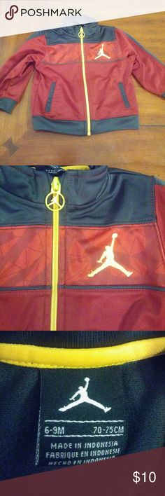 Jordan jacket for 6-9 month baby Super cute great condition a little wear on zipper not that noticeable .smoke and pet free home.please look at all pictures thank you. Jordan Jackets & Coats