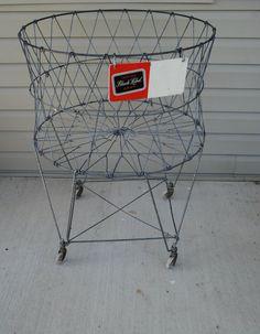 Vintage Wire Laundry Basket. $125.00, via Etsy.