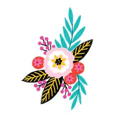 Summer by Jess Phoenix from Tattly Temporary Tattoos. Safe and non-toxic fake tat toos by real artists! Illustration Blume, Posca Art, Arte Floral, Floral Illustrations, Pottery Painting, Flower Art, Watercolor Art, Design Art, Art Projects