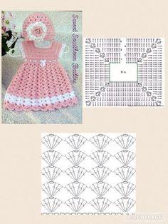 Crochet Baby Dress Pattern, Crochet Fabric, Crochet Diagram, Crochet Motif, Crochet Top, Easy Crochet, Crochet Summer, Crochet Toddler, Baby Girl Crochet