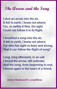 The Arrow and the Song.....Henry Wadsworth Longfellow