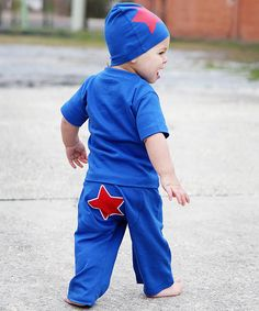 Take a look at this Blue Star Pants - Infant by RuggedButts on #zulily today!