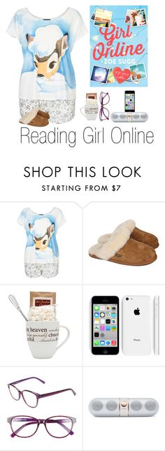 """Reading Girl Online"" by emmaluvsonedirection ❤ liked on Polyvore featuring Topshop, UGG Australia, Corinne McCormack, Beats by Dr. Dre, YouTubers, Zoella and books"