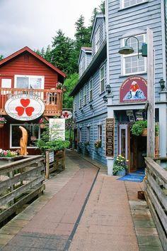 Creek Street - Ketchikan, Alaska! I book travel! Land or Sea! http://www.getawaycruiseplanner.com #alaskatravel