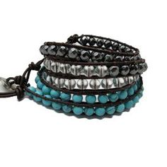 One Size Fits All Traveling Black & White And Aqua Humorous Anthropologie Beaded Belts X 2
