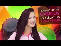Hidratação com GELATINA nos Cabelos Passo a Passo por Júlia Doorman - YouTube