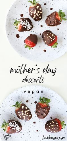 Desserts, sweet treats, cakes and chocolate sweets for mother's day gift and activity ideas. how to make chocolate covered strawberries Healthy Vegan Desserts, Vegan Dessert Recipes, Savory Snacks, Vegan Treats, Easy Snacks, Vegan Recipes Easy, Vegan Food, Whole Food Recipes, Delicious Desserts