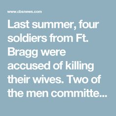 Last summer, four soldiers from Ft. Bragg were accused of killing their wives. Two of the men committed suicide, and the other two await trial. So many brutal crimes, so similar, so close in time – raised questions, and the army sent a team to investigate.   One possible suspect was mefloquine - brand name Lariam, an anti-malarial drug. It was invented by the U.S. Army and is routinely given to soldiers deployed overseas. In scientific terms, Lariam can cause neuropsychiatric adverse events…