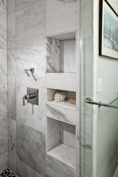 """Shower Niches- """"functional and do not interrupt the flow of the shower"""""""