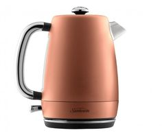 Kick-start your day with a nice cup of tea made using the Sunbeam London Collection Kettle. Elegantly crafted to make a stunning statement in any kitchen, this water kettle boasts a sleek, ergonomic design with a touch of classic English style. Fun Cup, English Style, Small Kitchen Appliances, Kettle, Crafts To Make, Tea Cups, Peach, Bronze, Organisers