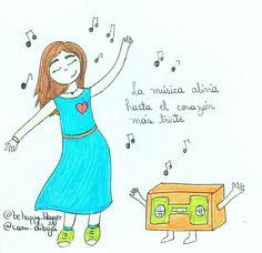 Bailar bailar bailar sin parar anima mi alma, corazón y me alegro hasta cansar jaja  ayyy yeiii si te pasa compartirlo ♥  #feliz #baile #ilustración #dibujo #camidibuja #superación #ánimo #motivación #bienestar #plenitud #salud #emocional