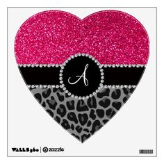 Shop Monogram black leopard pink glitter wall decal created by Brothergravydesigns. Pink Leopard Print, Leopard Animal, Custom Wall, Monogram Gifts, Cat Design, Wallpaper Backgrounds, Wallpapers, Pink Glitter