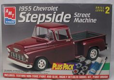 AMT 1 25 Scale 1955 Chevy Stepside Pickup 8598 for sale online 1955 Chevy, 1955 Chevrolet, Classic Chevrolet, Chevy Stepside, Classic Car Insurance, Models For Sale, Non Toxic Paint, Photo Retouching, Kit