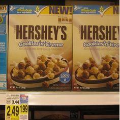 KROGER:  Moneymaker on Hershey's Cookie 'n Creme Cereal!!