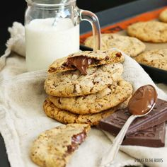 Nutella Stuffed Chocolate Cookies | Bake to the roots