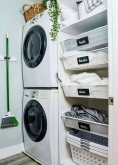 image of small laundry room with stacked washer and dryer and ikea pax hack Laundry Room Makeover!image of small laundry room with stacked washer and dryer and ikea pax hack are several task Tiny Laundry Rooms, Laundry Room Remodel, Basement Laundry, Laundry Room Design, Small Laundry Closet, Bathroom Laundry, Outdoor Laundry Rooms, Small Laundry Space, Laundry Closet Makeover
