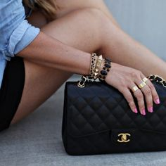 Chanel and gold accessories