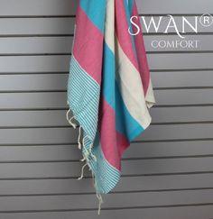 92f6eb30f Amazon.com - Swan Comfort 100% Organic Turkish Cotton Absorbent Beach  Towel, Easy Care ideal for Bath Spa Fitness Yoga Pool Yatch Swimwear Guest  Gym - Pink ...