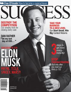 Elon Musk: The Game Changer He has described himself as a workaholic who invests 100 hours per week running Tesla Motors and SpaceX, often flying in a corporate jet.The SpaceX factory was used as a filming location for Iron Man and Musk has a cameo in Elon Musk, Elon Reeve Musk, Success Magazine, Business Magazine, Steve Jobs, Tesla Musk, Foto Doctor, Solar City, Success Video