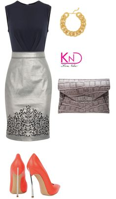 Untitled #1970 by kenndee featuring a navy dress