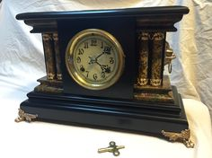 Antique New Haven Mantle Clock is on eBay. Gorgeous and ornate.