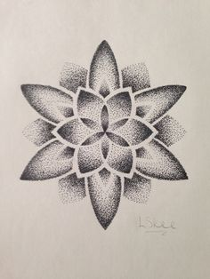 Quite proud to say I've not drawn in a while. Dot Work Mandala, Geometric Mandala Tattoo, Mandala Art Lesson, Mandala Tattoo Design, Lotus Mandala, Dot Tattoos, Dot Work Tattoo, Body Art Tattoos, Tattoo Drawings