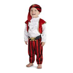 Baby Pirate Commander Costume, Infant Boy's, Size: 6-12MONTHS, Multicolor