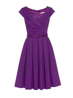 Purple Work Dresses, Cute Dresses, Dresses For Work, Dress Outfits, Fashion Dresses, Dress Up, Cute Outfits, Fashion Styles, Frock Patterns