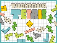 Tulostettava tetris ja peliohjeita pienille ryhmille | RyhmäRenki #tetris #tulostettava #ryhmätoiminta #hahmottaminen #ohje #peli Math Problem Solving, Math Problems, Preschool Math, Classroom Fun, Early Childhood Education, Mathematics, Homeschool, Teaching, Early Education